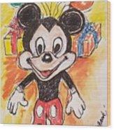 Mickey Mouse 90th Birthday Celebration Wood Print