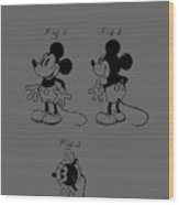 Mickey Mouse Character Figure Patent 1929 Wood Print