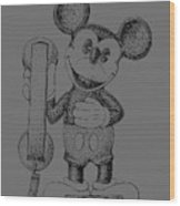 Mickey Mouse Novelty Phone Patent 1978 Wood Print