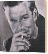 Mickey Rourke Wood Print