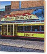 Mickey's Dining Car Wood Print