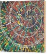 Microcosm Xiv Wood Print