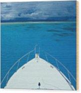 Micronesia, Boat Bow Wood Print