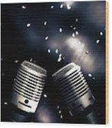 Microphone Club Wood Print