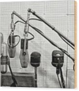 Microphones At Sun Records Wood Print