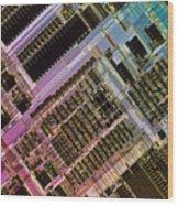 Microprocessors Wood Print by Michael W. Davidson