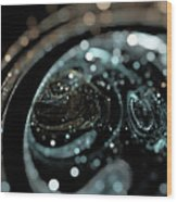 Microscopic IIi - Opale Wood Print by Sandra Hoefer