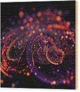 Microscopic Iv - Glass Jewels Wood Print