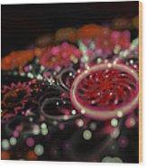 Microscopic V - Glitter Wood Print by Sandra Hoefer
