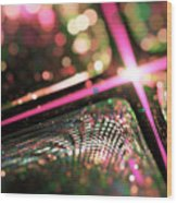Microskopic Vi - Disco Fever Wood Print