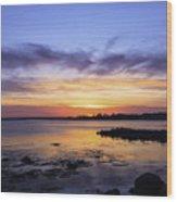 Mid April Sunset Wood Print