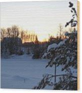 Mid January Winter Sunrise Wood Print by Kent Lorentzen