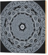 Mid Night Kaleidoscope Wood Print