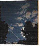Mid-night Traveler Wood Print