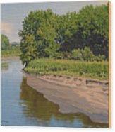 Mid Summer Prairie Stream Wood Print