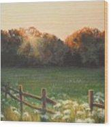 Mid-summer Sunset Wood Print