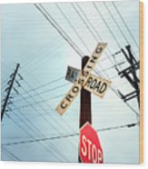 Mid West Crossroad, Usa Wood Print