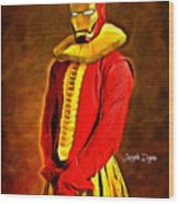 Middle Ages Iron Man Wood Print