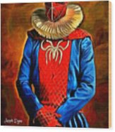 Middle Ages Spider Man Wood Print