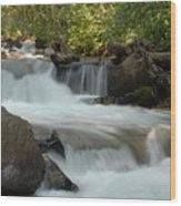 Middle Provo River Cascade Wood Print