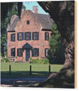 Middleton Place Plantation House Wood Print