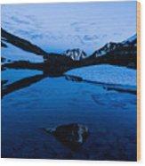 Midnight Atop Crow Pass Wood Print