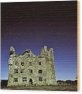 Midnight Blue At Leamanch Castle The Gateway To The Burren Wood Print