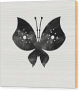 Midnight Butterfly 2- Art By Linda Woods Wood Print