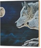 Midnight Calling Wood Print