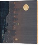 Midnight City  Wood Print