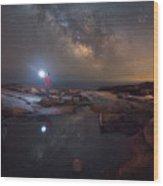 Midnight Explorer Mirror Finish Wood Print