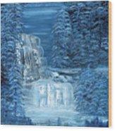 Midnight Falls Wood Print