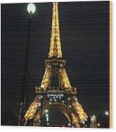 Midnight In Paris Wood Print