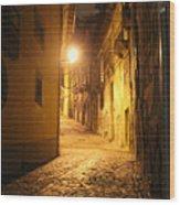 Midnight In Porto Wood Print