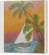 Midnight In The Gulf Of Mexico Wood Print