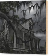 Midnight In The House Wood Print by James Christopher Hill