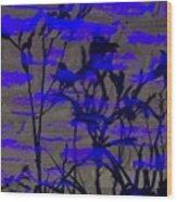 Midnight Lillies Wood Print