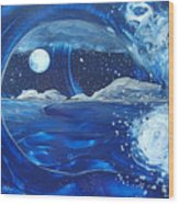 Midnight Moon Wood Print