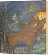 Midnight Mountain Majic 2 Wood Print