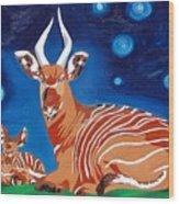 Midnight Phantom Wood Print