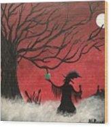 Midnight Wood Print