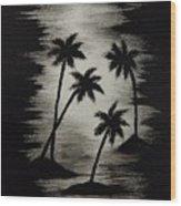 Midnight Sands Wood Print