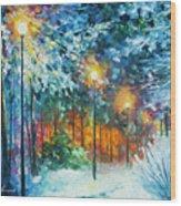 Midnight Snow Songs  Wood Print