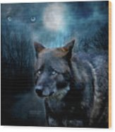 Midnight Spirit Wood Print