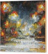Midnight Storm Wood Print