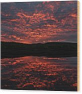 Midnight Sun In Norbotten Wood Print