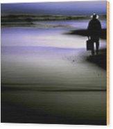 Midnight Wanderer Wood Print