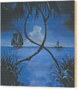 Midnite Wood Print by Herold Alveras