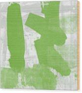 Midori- Abstract Art By Linda Woods Wood Print