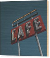 Midpoint Cafe Wood Print